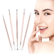 цена на 5PCS Blackhead Remover, Pimple Comedone Extractor, Dual- Ended Acne Removal Kit,  Stainless Steel Blemish Whitehead Popping Tool