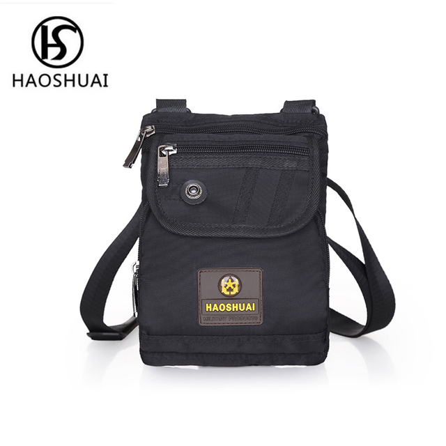 Mini Shoulder Bag Travel Security Pocket Belt Crossbody Bags For Men Handbags Black Casual Sling Messenger