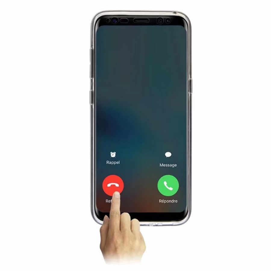 Lüks 360 PET & PC Tam Kapak Telefonu samsung kılıfı Galaxy A50 A40 A30 A20 A10 A5 A7 A6 A8 A9 2018 Kılıfları Kapak Silikon Çerçeve