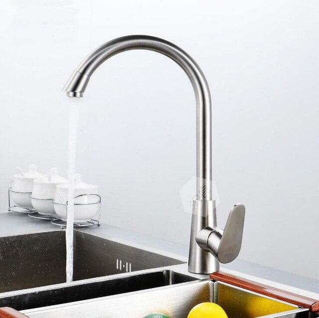 304 Edelstahl küche becken wasserhahn, gebürstet waschbecken ...