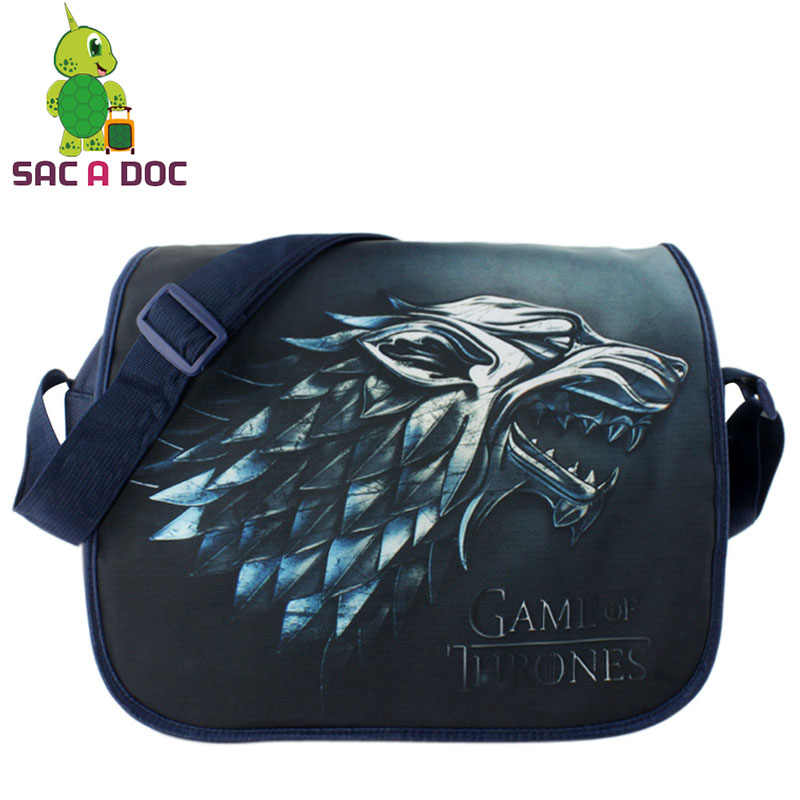 61426e070c85 Anime Game of Thrones Printing School Bag Students Children School Crossbody  Bag Teens Womens Mens Travel