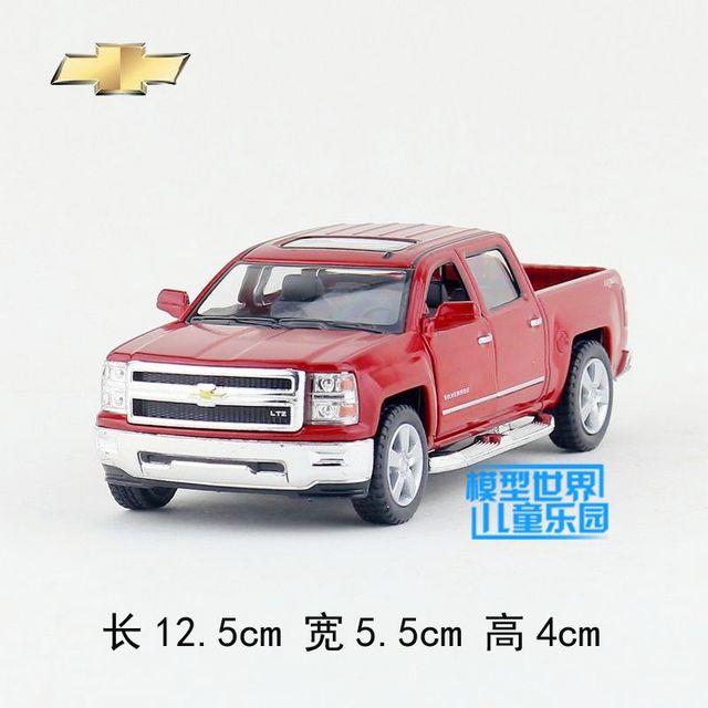 Regalo para el bebé 1 unid 12.5 cm delicadeza Kinsmart Chevrolet silverado Pickup modelo de coche de aleación decoración del hogar del muchacho juguete de los niños