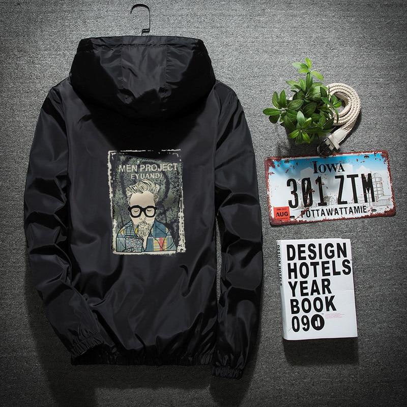 New Men's Casual Hooded Bomber Jacket Spring Autumn Hip Hop Plus Size 6XL 7XL Windbreaker Sportswear Zipper Jacket Coat Outwear