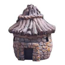 купить Mini DIY dollhouse miniatures cottage terrarium fairy garden gnome moss resin decorations for home and garden дешево