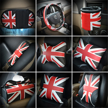 Union Jack Car Seat Belt Cover Pad Neck pillow Waist Support
