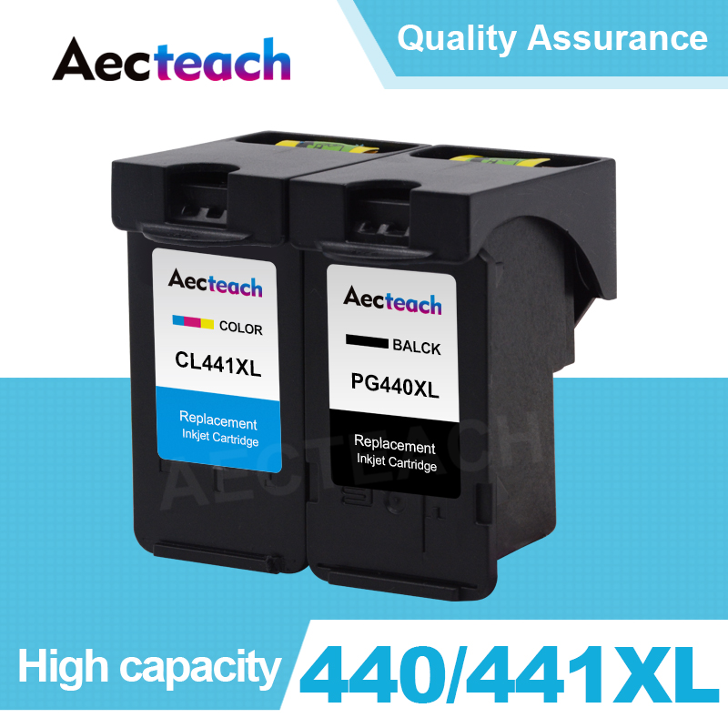 Aecteach Refill Ink Cartridge For <font><b>Canon</b></font> PG <font><b>440</b></font> CL 441 <font><b>XL</b></font> PG440 PG-<font><b>440</b></font> For <font><b>Canon</b></font> Pixma MG3240 MG3540 MG4240 MG3640 Printer image