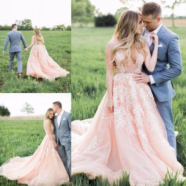 Pink Wedding Dresses Size 14