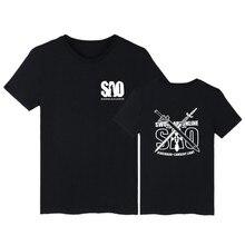 Sword Art Online Cartoon Short Sleeve Tee Shirt Men Funny Summer Fashion Tshirt Men Brand Japanese Anime T Shirt Men Cotton
