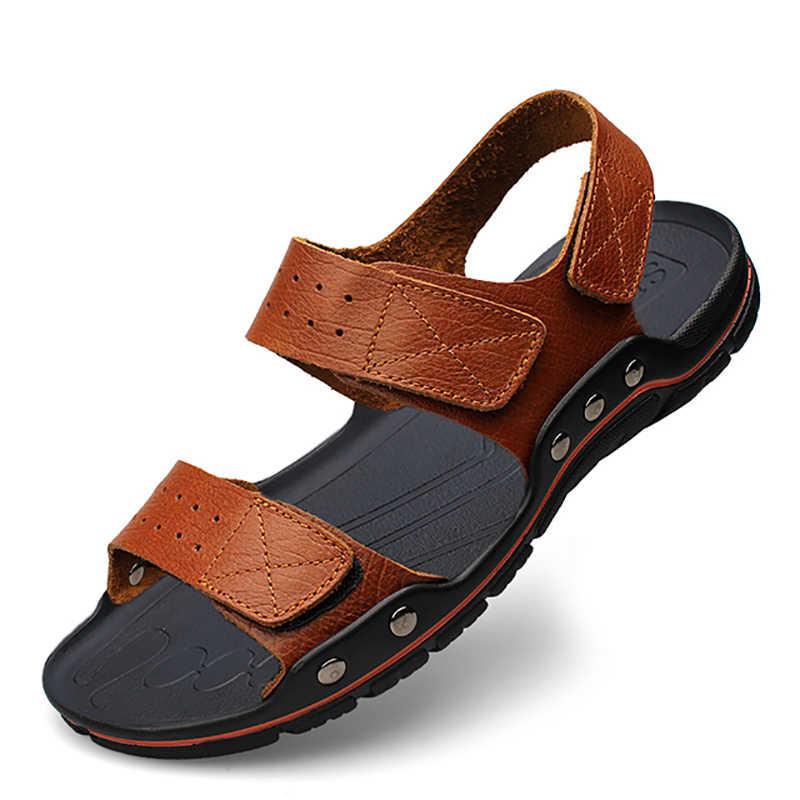 รองเท้าแตะชายสบายรองเท้าผู้ชายฤดูร้อนรองเท้าแตะชายรองเท้าแตะ Gladiator ฤดูร้อนโรมันรองเท้าแตะชายหาดกลางแจ้งขนาดใหญ่ 48