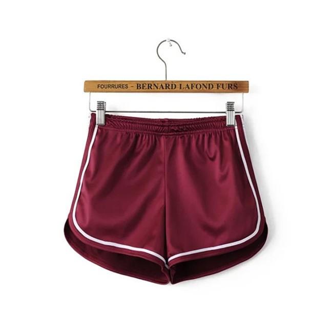 HTB13DUrMVXXXXbWapXXq6xXFXXXb - Glossy Shorts Slim Sexy Short Cotton Elastic High Waist Shorts For Women PTC 181