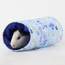 Zabawka dla chomika tunel dla małych zwierząt domowych rurki dla zwierząt domowych łóżko dom gniazdo dla królików fretki świnki morskie zimowa ciepła zabawka tanie tanio cloth HT786653 Hamster animal toy