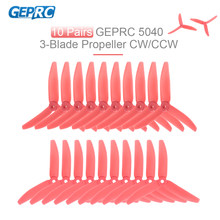 10 pares de 5040 5in 3 pala de la hélice Triblade accesorios para FPV Racing RC Quadcopter QAV210 250 RC Drone(China)
