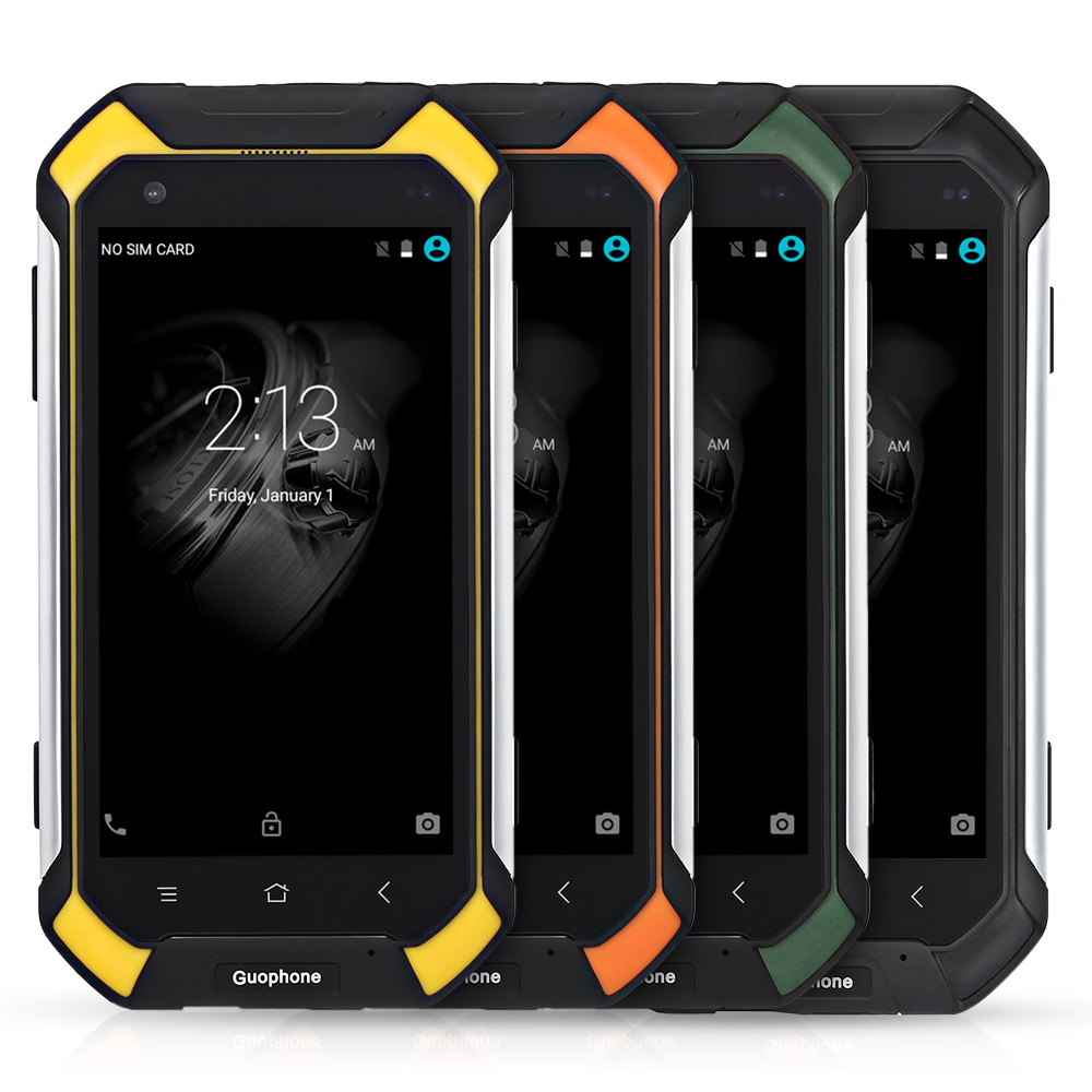 Guophone V19 4.5 Inch Android 5.1 3G Smart Phone IP68 Waterproof Shock Resistant MTK6580 Quad Core 2GB RAM 16GB ROM Phone