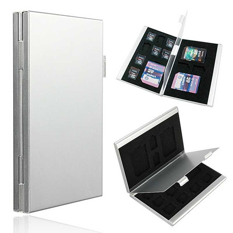 13 في 1 المحمولة الألومنيوم 10 TF 3 ل SD بطاقات الذاكرة صندوق تخزين الحالات حامل حامي العالمي سهلة حمل أدوات عالية الجودة