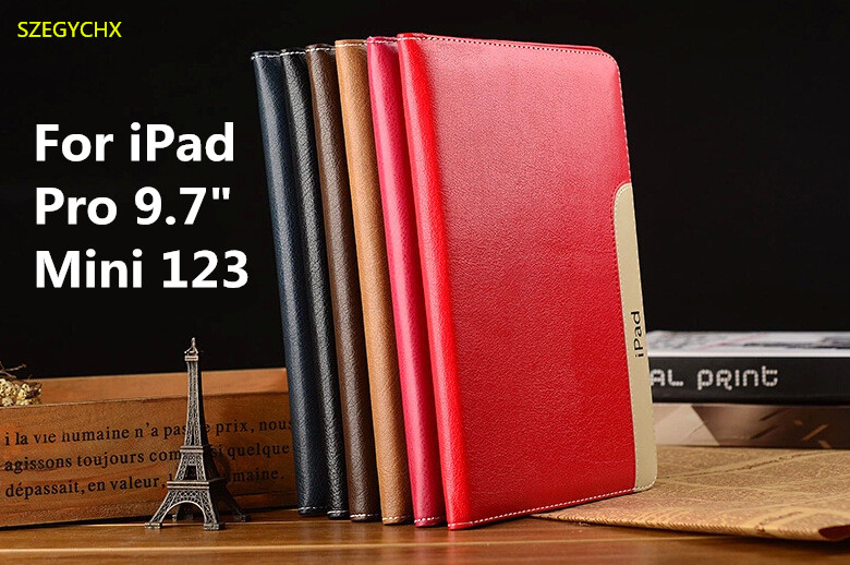 Tablet Case For iPad Pro 9.7 inch /Mini123 Leather Streak Case Smart Magnetic Sleep Wake Up Protective Cover with Stand Function ctrinews for apple ipad pro 9 7 tablet case smart leather cover flip case for ipad pro 9 7 inch pc back cover wake up sleep