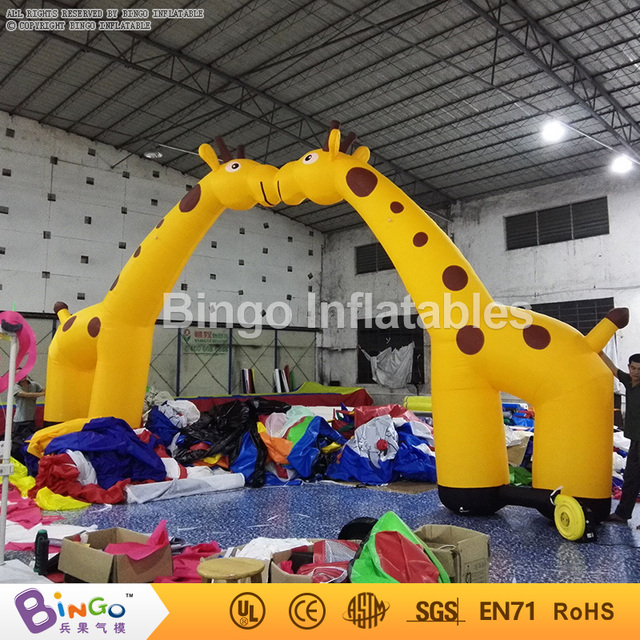 deer inflatable entrance arch,inflatable giraffe arch for amusement park/zoo arch gate door BG-A0750-2 toy