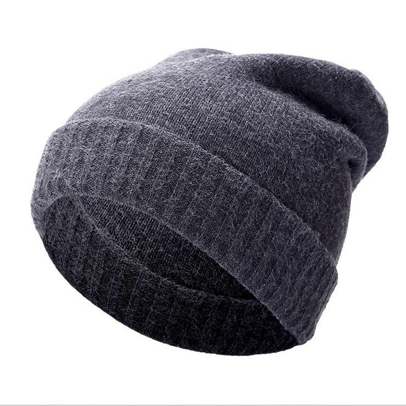 High Quality Wool Cashmere Winter Hats For Women Men Warm Women'S Brand Casual Knitted Vogue Hat Female Skullies Beanies