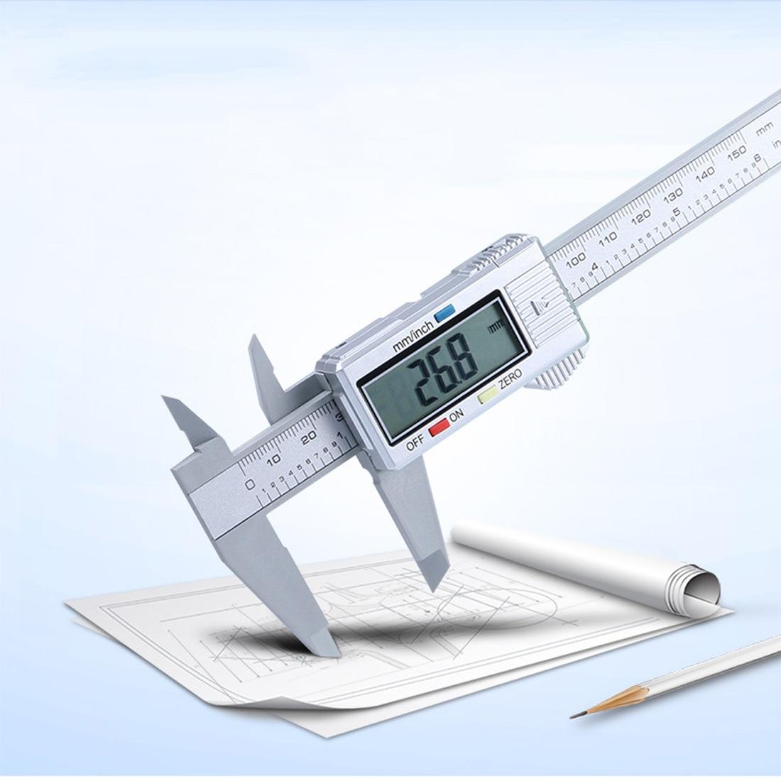 Hand Tool 6inch LCD 150mm Digital Electronic Carbon Fiber Vernier Caliper Gauge Micrometer Tool 35