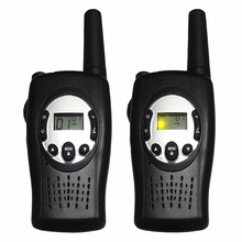2pc T088 Crank dynamo walkie talkies wind up 2 way radio pair FRS GMRS portable radios set w/ 99 private code led flashlight