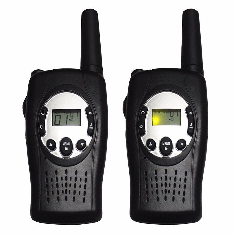 2pc T088 Crank dynamo walkie talkies wind up 2 way radio pair FRS GMRS portable radios
