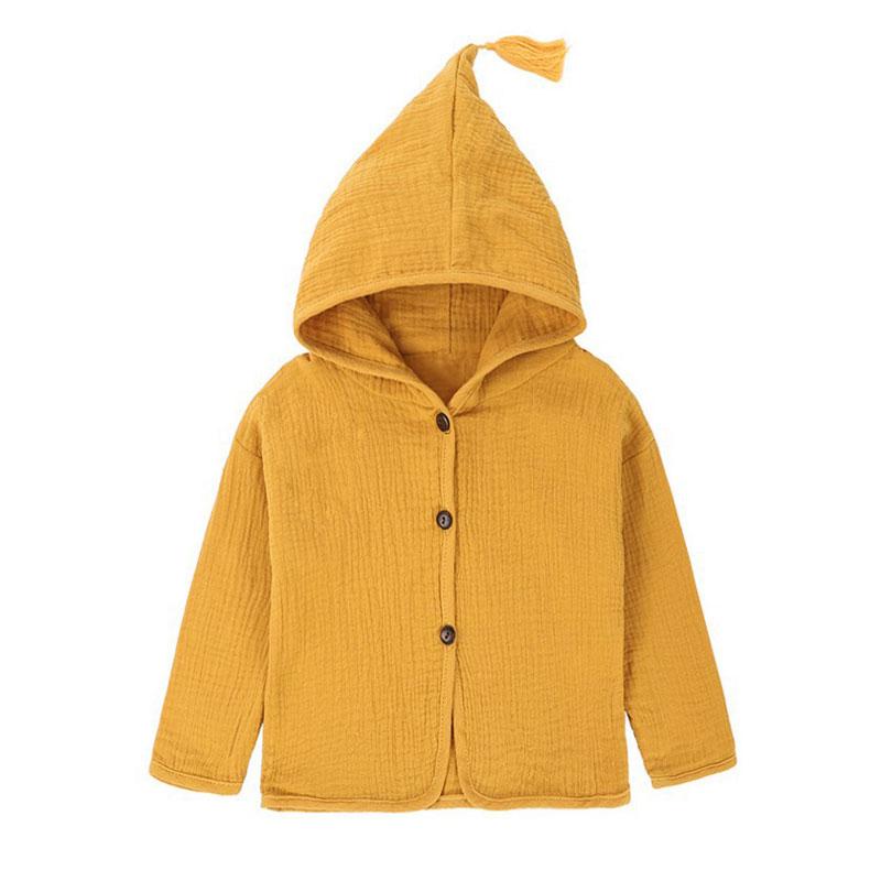 8f0be0c463857 Tops Shirt Girls Jackets Kids 2018 New Baby Boys Clothing Tassel Hat Design  Cotton Linen Children