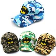 Gorra de béisbol para niños de 2-8 años de edad con bordado de dibujos  animados Batman Bat LOGO verano niños gorra de sol niños . dff31d0832a
