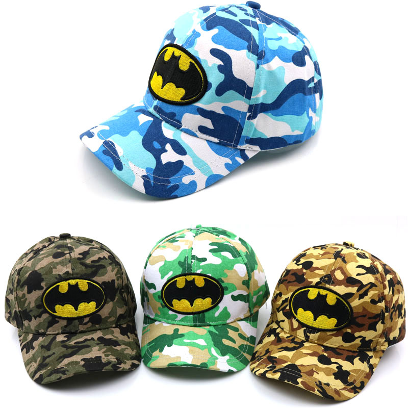 Age 2-8 Years Child   Baseball     Cap   Cartoon Embroidery Batman Bat LOGO Summer Kids Sun Hat Boys Girls Snapback   Caps   Children