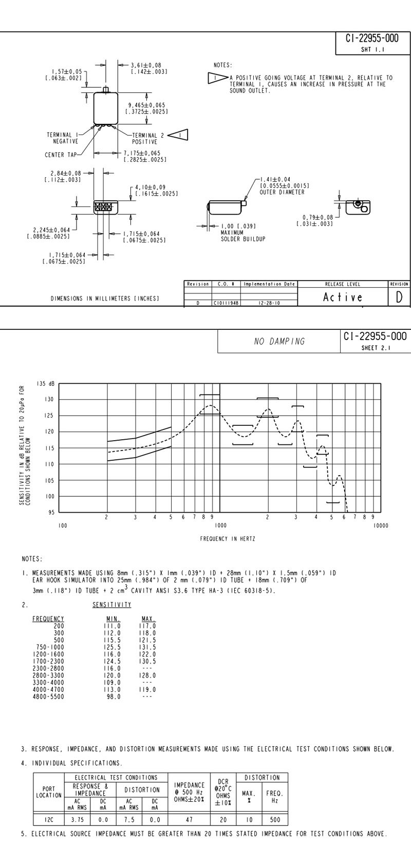 Knowles receiver CI-22955