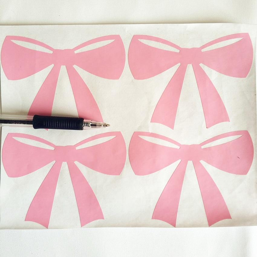 36pcs Pink Bow Oblik Dječiji zid naljepnica Djeca Soba dekoracija