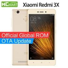 Xiaomi redmi 3x3x32 gb rom 4g teléfono inteligente teléfonos móviles snapdragon 430 5.0 pulgadas de huellas dactilares de identificación