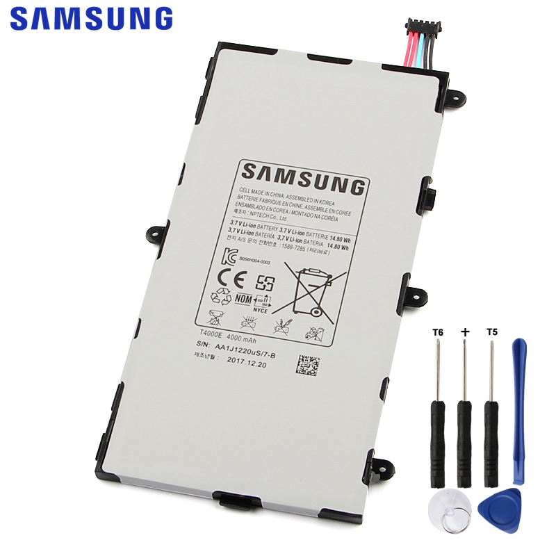 Samsung Original T4000E Battery For Samsung GALAXY Tab3 7 0 T210 T211 T2105 T217a Genuine Replacement Tablet Battery 4000mAh in Mobile Phone Batteries from Cellphones Telecommunications