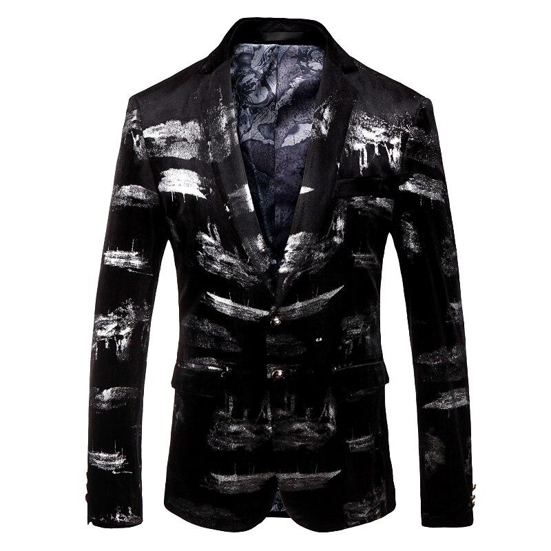 Automne Noir Costumes D'affaires Hommes Blazers Casual Britannique Blazer De 2018 Manteaux Flanelle VestesClassique Style Homme bY7yf6g