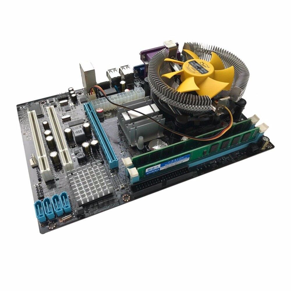 Материнская плата Процессор комплект с 4 ядра 2,66 г Процессор i5 core + 4 г памяти + вентилятор ATX настольного компьютера плата собрать набор