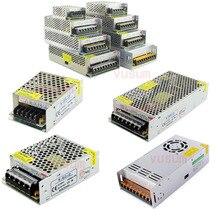 Driver led 5v, 12v, 24v, 36v, 48v, 1a, 2a, 5a, 10a, 20a, 30a, 60a, led transformadores de iluminação para luzes de led, fonte de alimentação AC85 265V