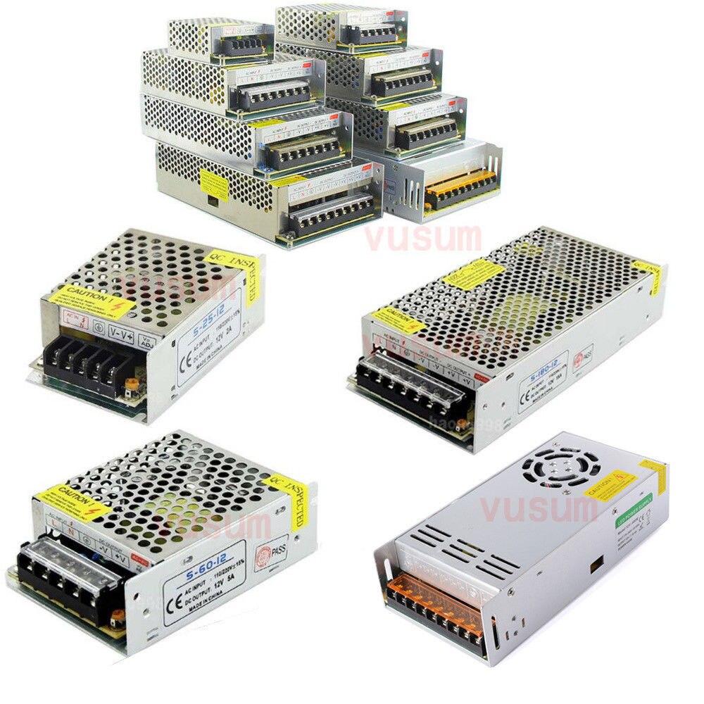 Vusum LED Conducteur 12V 2A 5A 10A 20A 30A 40A 60A Pour LED s Unité D'alimentation AC85-265V Transformateurs D'éclairage Pour alimentation LED Lumières