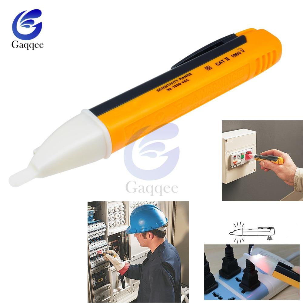 Indicador elétrico 90-1000 v sem contato tomada de parede ac tomada de alimentação sensor de tensão detector tester caneta led luz ac 110 v-220 v
