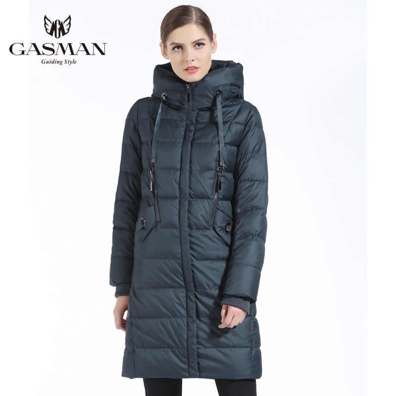 GASMAN 2019 kadın aşağı ceket sıcak tutan kaban ve ceket uzun kış giyim kadın kadın Parka moda