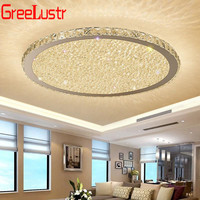 Modern K9 Crystal Ceiling Lamp Fixtures Round Led Chandelier Home Decor Lighting Crystal plafonnier For Living Room Lights