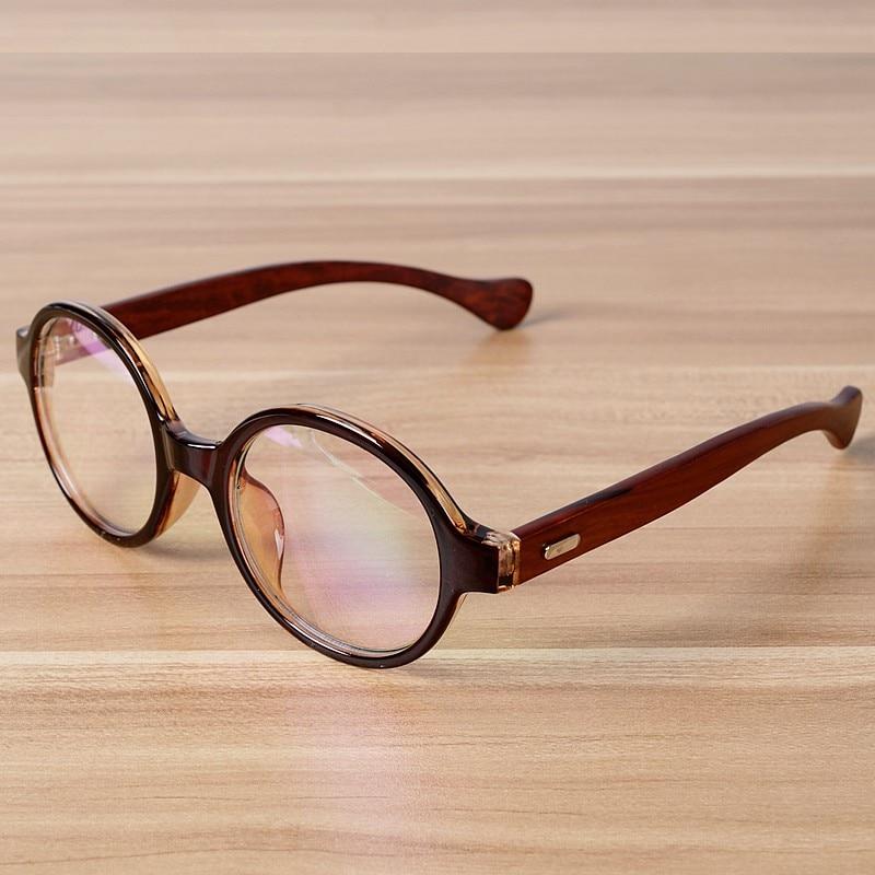NOSSA Մեծ կլոր շրջանակի ակնոցներ Ձեռագործ պատրաստվածություն Փայտի ակնոցներ Մաքուր ոսպնյակներ օպտիկական բաժակներ Շրջանակներ Vintage Myopia Eyewear ակնոցներ