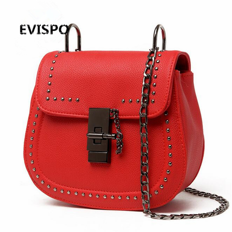 EVISPO Fashion women bag famous brand purses and handbags Casual PU leather
