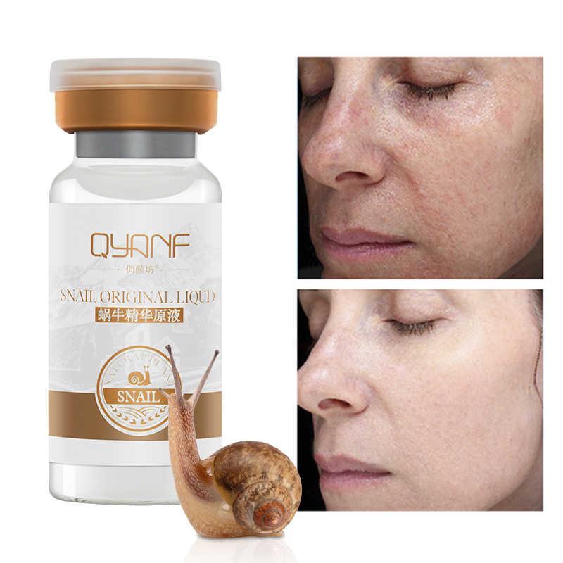 QYF الحلزون جوهر ترطيب تبييض ترطيب حب الشباب إزالة البثرة مكافحة الشيخوخة يتقلص المسام الوجه المصل الجمال