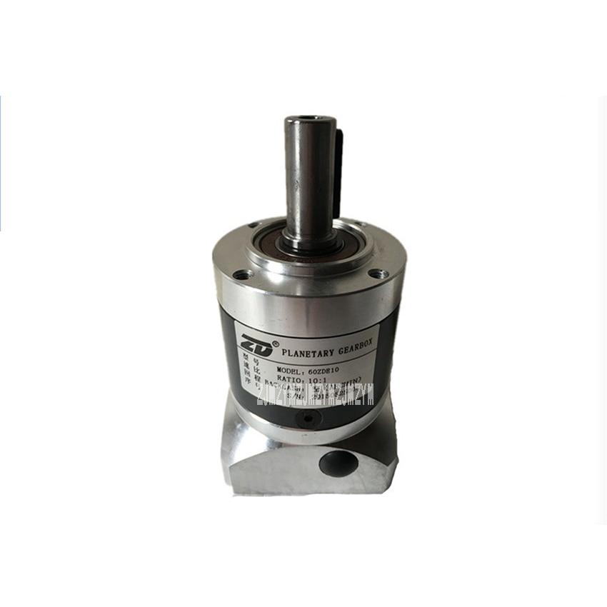 1:10 ratio 60ZDE10K Planetary Reducer Gearbox Applicate for Stepper Motor Servo Motor Micro Speed Gearbox 200W 6.15N.m. 300rpm 130 planetary gearbox reducer ratio 10 1 for 130mm ac servo motor shaft 22mm diameter