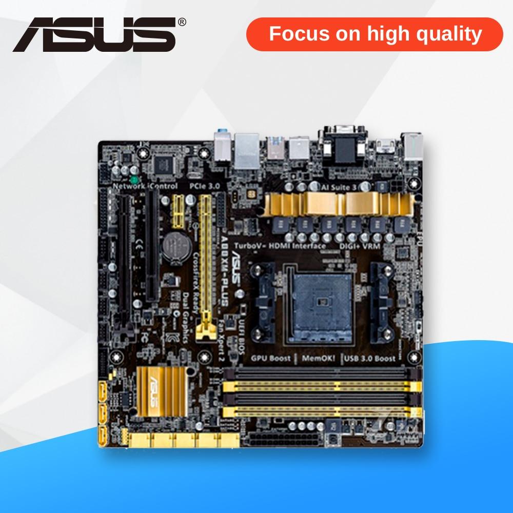 Asus A88XM-PLUS Desktop Motherboard A88X Socket FM2 DDR3 32G SATA3 USB3.0 Micro ATX asus a88xm a motherboard fm2 fm2 ddr3 a88x desktop motherboard mainboard