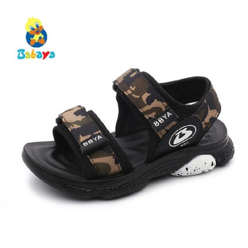 Brillant 2019 Marke Sommer Strand Sandalen Kinder Sandalen Jungen Leder Sommer Schuhe Casual Sport Sandalen Für Kleine Jungen Kleinkind 26- 37 #