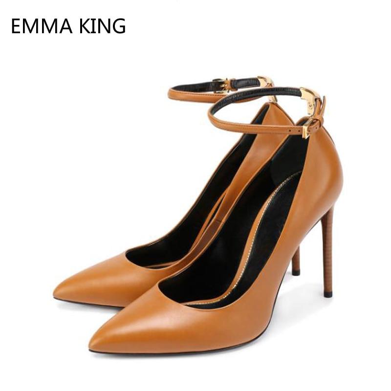 35 Chaussures Aiguilles Mode Femmes Talons Marron Profond 43