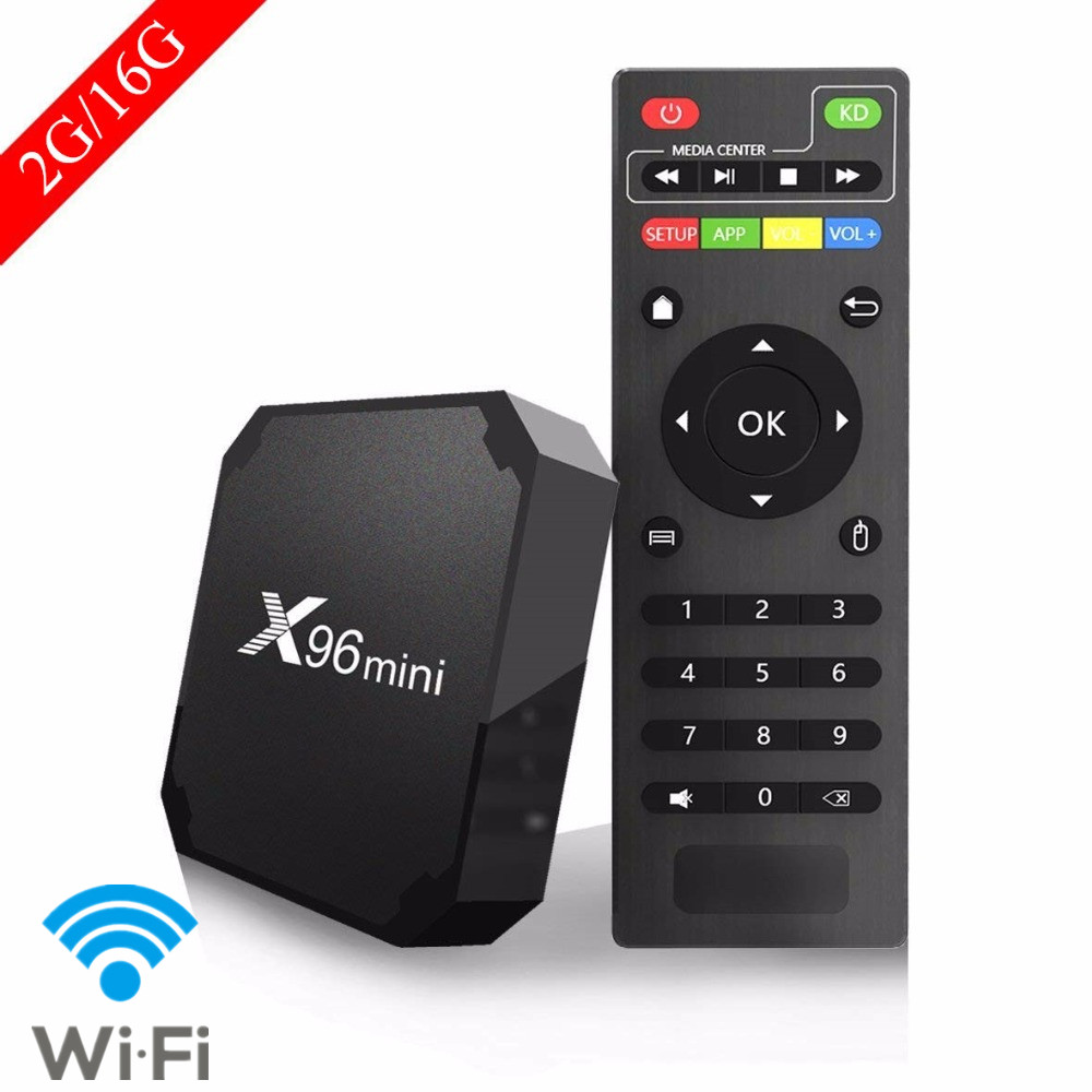 X96 mini S905W Quad Core tv box Android 7.1.2 2GB 16GB andriod TV BOX Amlogic Suppot H.265 UHD 4K WiFi X96mini Set-top box цена
