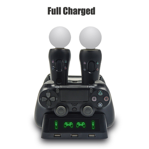 Image 3 - For Playstation 4 PS4 Slim Pro PS VR PS Move Motion Controllers 4 in 1 Charger Dualshock USB Charging Dock Station Storage Stand