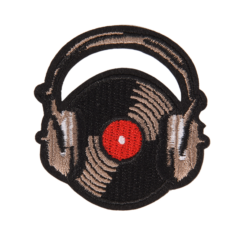 Diy Handmade Embroidered Patch: DIY Embroidery Handmade Diy Record Music Badge Iron On