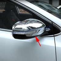 Side Mirror Turning Lights Covers Mirror Glossy Accessories For Kia Sportage 2017 Chrome Driving Rear View Rearview Decoration