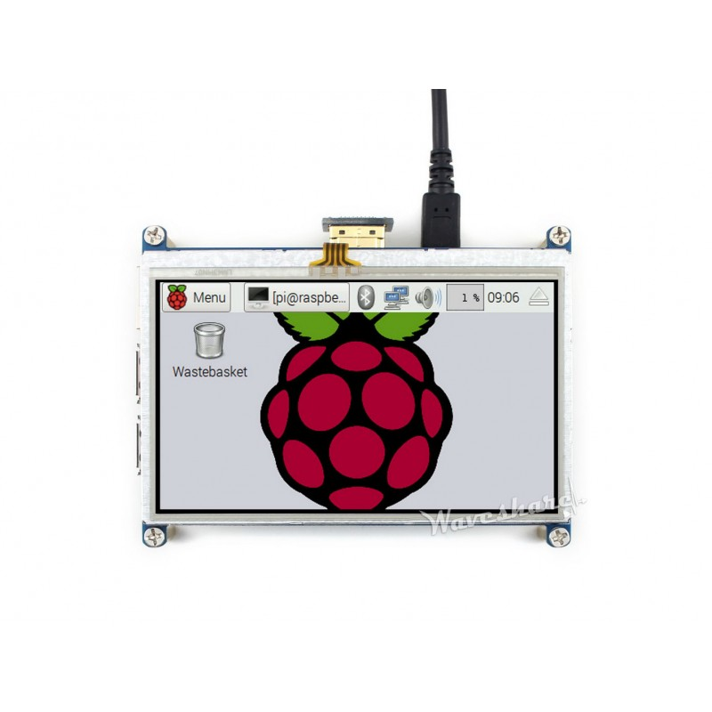 Waveshare New 4.3inch HDMI LCD Resistive Touch Screen 480 *272 Resolution Designed for Raspberry Pi Zero/A+/B/ B+/2 B/3 Model B 3 5 inch touch screen tft lcd 320 480 designed for raspberry pi rpi 2